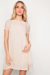 Lace Short Sleeves Dress Tunic Boho - The Jewelry Barn