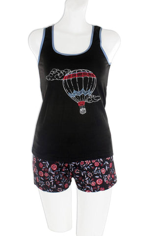 Knit Racerback Tank With Printed Shorts Set - The Jewelry Barn