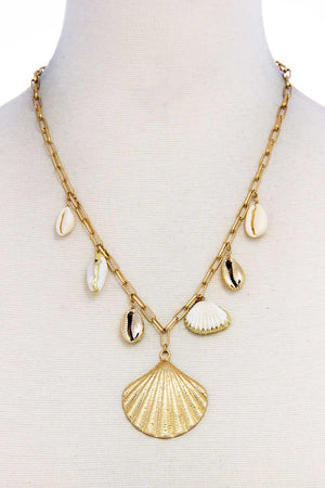 Trendy Fashion Chic Sea Life Shell Necklace - the-jewelry-barn