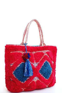 Chic Fashion Soft Tote With Tassel - The Jewelry Barn