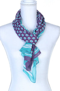 Polka Dots Pattern Sheer Oblong Scarf - The Jewelry Barn