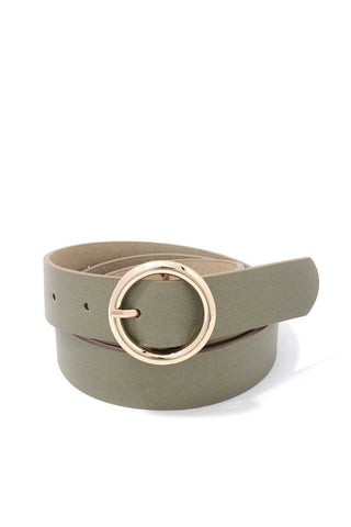 Metal Ring Pu Leather Belt - the-jewelry-barn