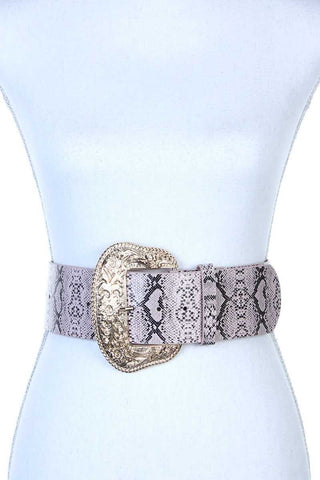 Filigree Wide Metal Buckle Animal Print Pattern... - the-jewelry-barn