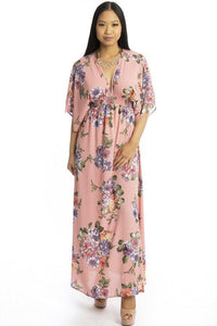 Floral Print Kimono Style Summer Dress - the-jewelry-barn