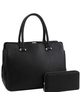 2in1 Cute Sleek Satchel With Matching Wallet - The Jewelry Barn