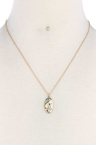 Sea Turtle Oval Shape Necklace - the-jewelry-barn