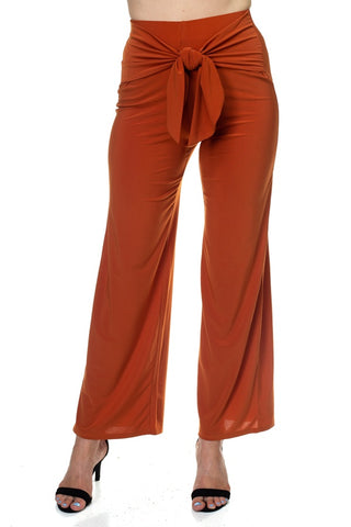 Wrap Waist Tie Pants - the-jewelry-barn