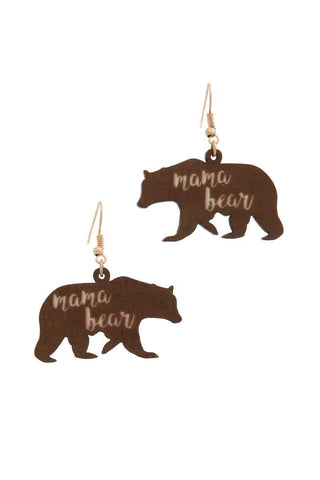Mama Bear Drop Earring - The Jewelry Barn