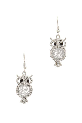 Owl Drop Earring - The Jewelry Barn