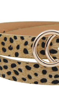 Stylish Leopard Fur Belt - The Jewelry Barn