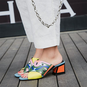 Women's Leather Summer Sandals Pumps... - The Jewelry Barn