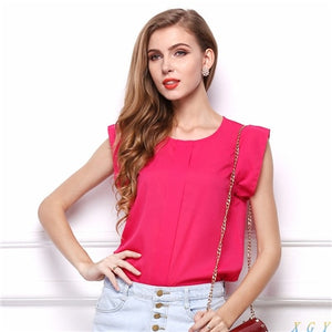Fashion Womens Blouses Chiffon Clothing Summer - The Jewelry Barn