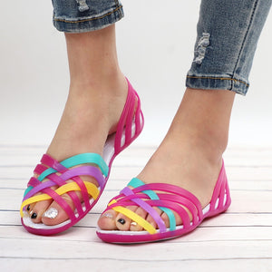 Women's Jelly Rianbow Summer Sandals - the-jewelry-barn
