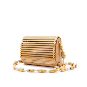Bamboo bag high quality designer Wood... - The Jewelry Barn