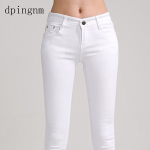 Elastic force jeans Female Denim Pants Candy Color Jeans - the-jewelry-barn