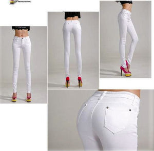 Elastic force jeans Female Denim Pants Candy Color Jeans - The Jewelry Barn