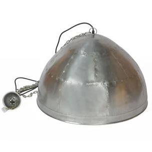 Walton Medium Shiny Zinc Iron Riveted Dome Pendant Lamp