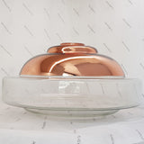 Gem Copper and Clear Glass Pendant Lamp
