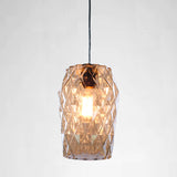 large clear cut glass pendant light