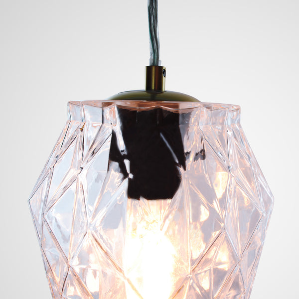 cut glass pendant light black lamp holder