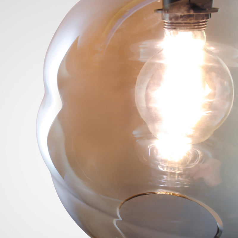 Nug Hand-blown Pendant Lamp in Cognac Glass
