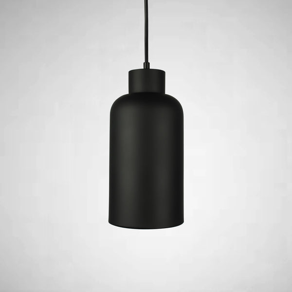black pendant light tube shaped