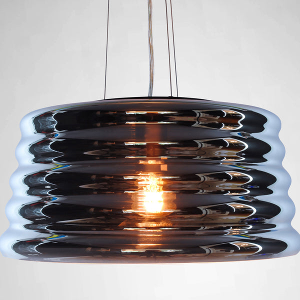modern glass blown pendant light