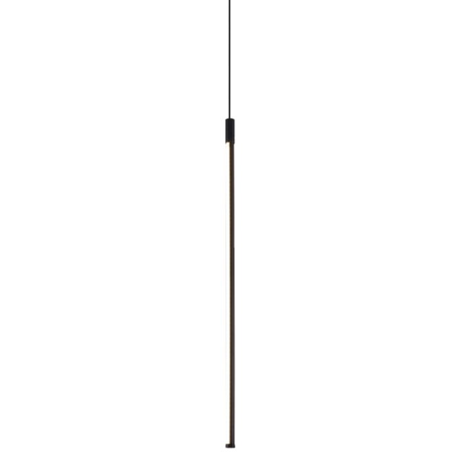 Eureka Black LED Linear Vertical Drop Pendant Lamp from SMITH&SMITH Lighting