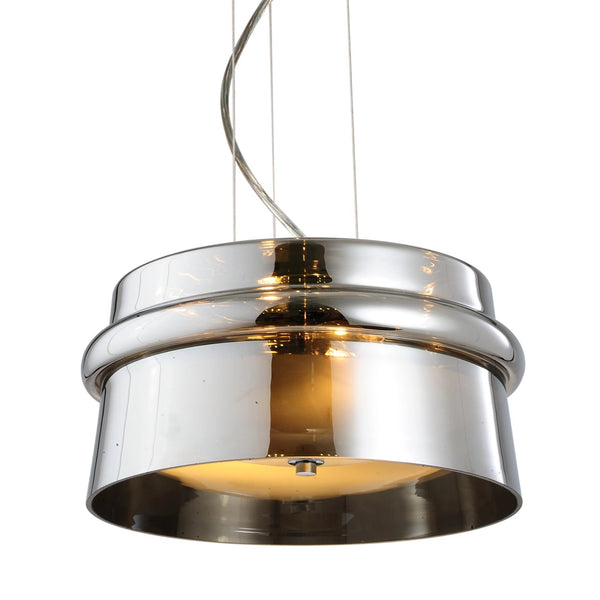 Baz Drum Smoke Glass Pendant Lamp