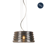 Lennox Chrome Glass Pendant Lamp