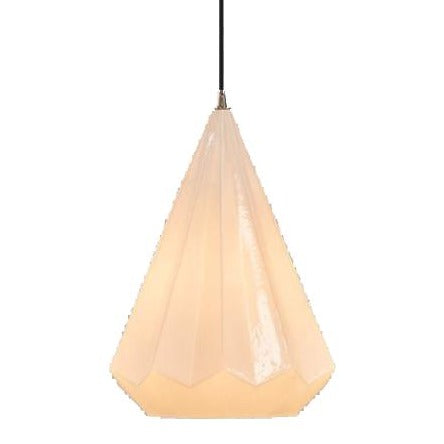 Kimberly Large Opal White Gray Class Pendant Lamp from SMITH&SMITH Lighting