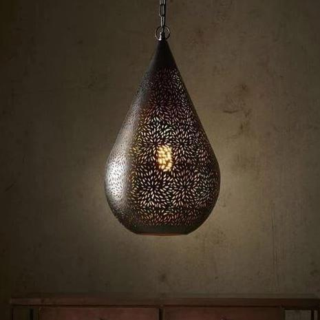 SMITH&SMITH Kova Black Perforated Teardrop Pendant Lamp. Zaffero Aquarius Black Perforated Teardrop Pendant Light insta