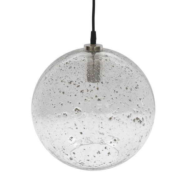 Arthur Round Glass Pendant Lamp Zaffero Lustre Ball Stone Effect Pendant Lamp