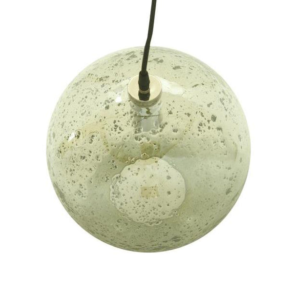 Arthur Round Pale Green Glass Pendant Lamp Zaffero Lustre Ball Stone Effect Pendant Lamp
