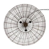 SMITH&SMITH Beressa Large Rustic Copper Wire Round Pendant Lamp - another top view - Cray Ball Zaffero