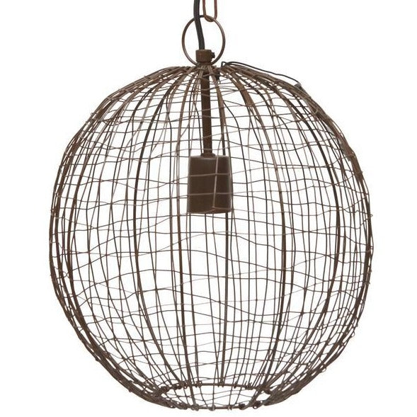 Beressa Small Wire Round Pendant Lamp