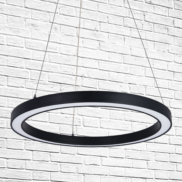 Rotondo Black Round LED Pendant Ring Lamp. Do you like the Oriel Nimbus LED Ring? Then you will love the SMITH&SMITH Rotondo Black Round LED Pendant Ring Lamp.
