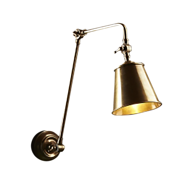 Douglas Antique Brass Flexible Arm Sconce Wall Light