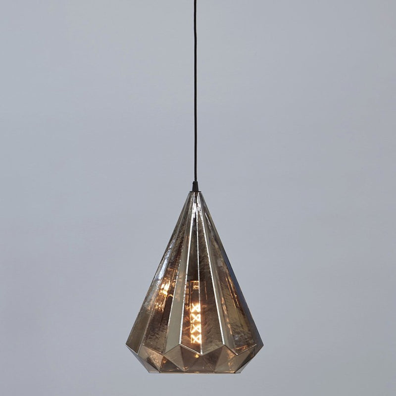 Kimberley Pendant Lamp in Smoke Glass - available from SMITH&SMITH