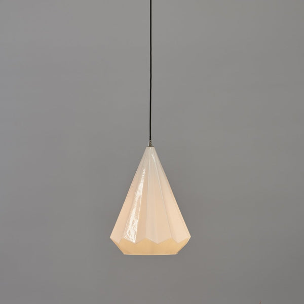 SMITH&SMITH KImberley Glass Pendant Lamp in Shiny Opal White