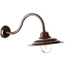 Liverpool Dark Brass Outdoor Wall Lamp from SMITH&SMITH