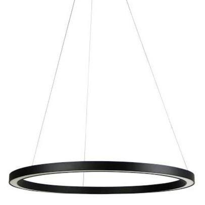 Rotondo LED Black Ring Pendant - 600mm