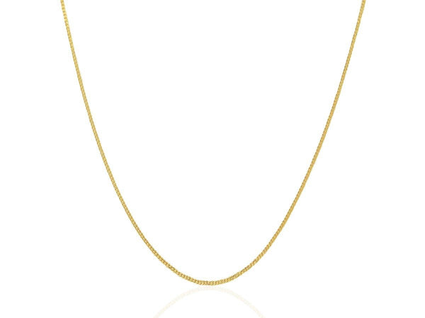 1.0 mm 14K Yellow Gold Gourmette Chain