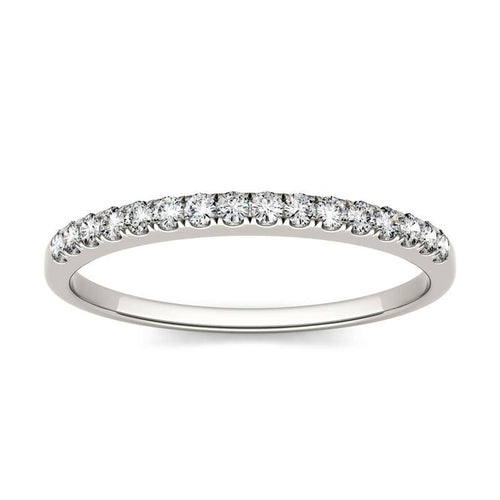 0.16ct Moissanite Wedding Band in 14K White Gold