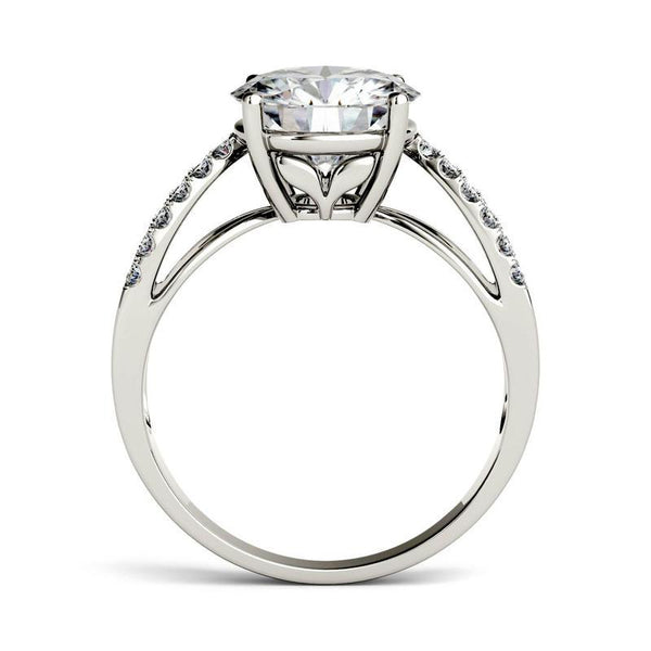 Moissanite  Infinity Ring in 14K White Gold
