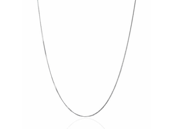 1.0 mm 14K White Gold Gourmette Chain