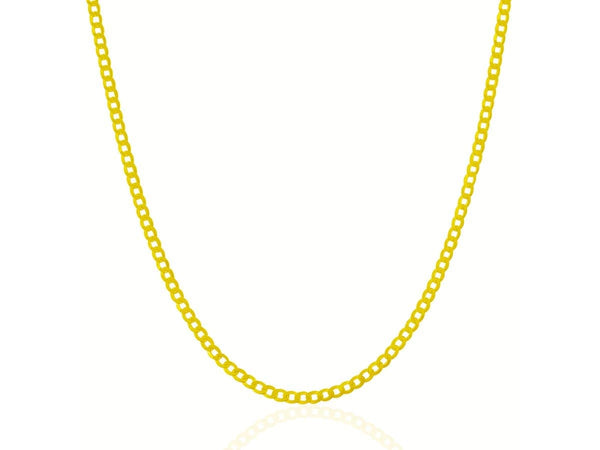 2.4 mm 10K Yellow Gold Curb Chain