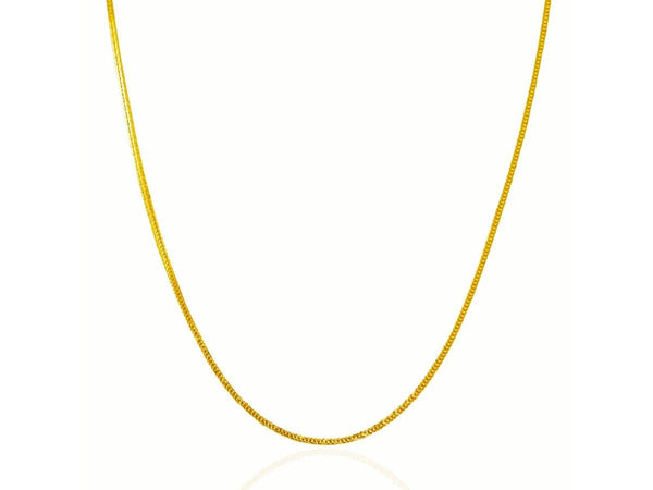 14K Yellow Gold Foxtail 1.0 mm Chain