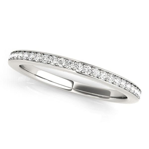 14K White Gold Simple Diamond Wedding Ring (1/4 ct. tw.)