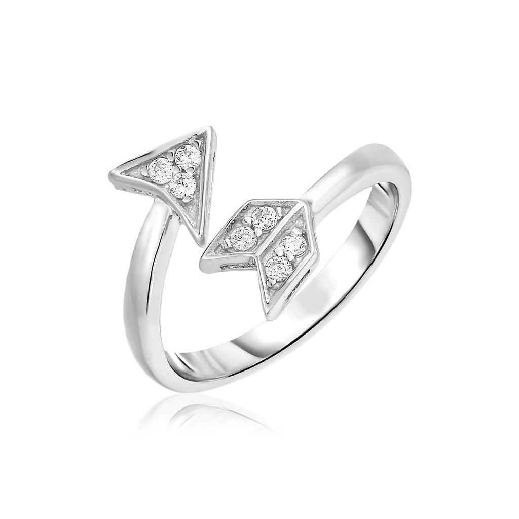 Sterling Silver Arrow Bypass Toe Ring